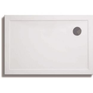 Zamori 35mm Rectangular Shower Tray 1000mm x 700mm with offset waste